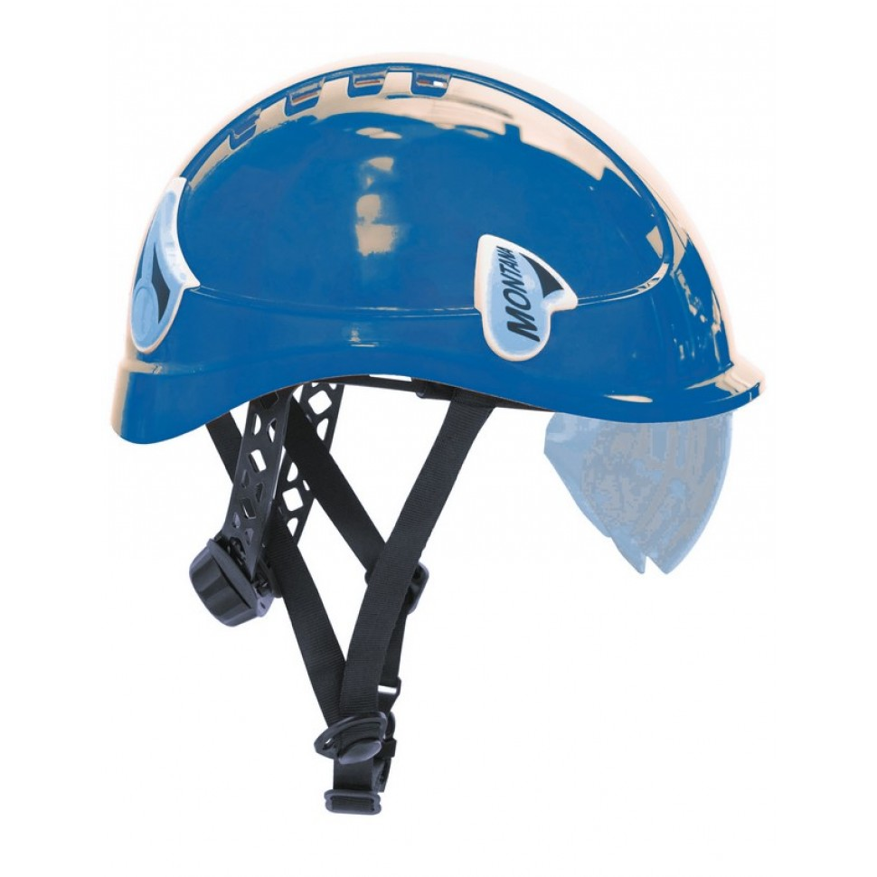Casco seguridad Montana azul