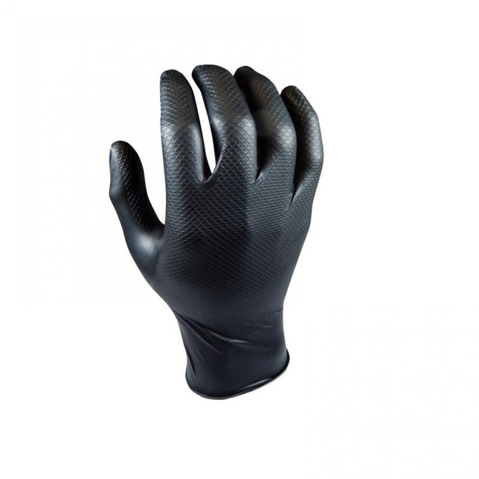 Caja 50 guantes nitrilo grip negros