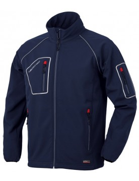 Cazadora softshell just azul
