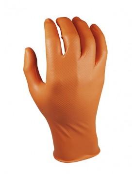 Guantes desechables Gripazz nitrilo naranja. Caja 50 unidades