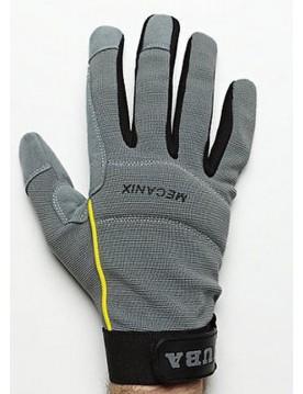 5 pares guante cuero mecanix gris