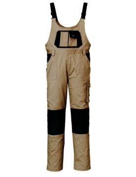 Pantalon peto beige/negro