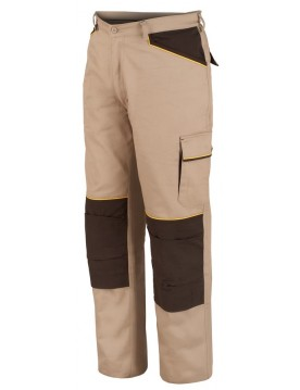 Pantalon shot beige/marron