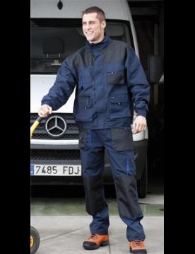 Pantalon 981 azul/negro