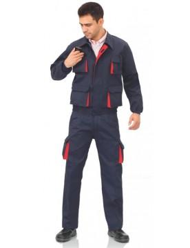 Pantalon multibolsillos bicolor cargo