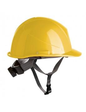 Casco de proteccion con barboquejo y rueda ER SERIES amarillo