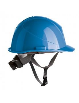 Casco de proteccion con barboquejo y rueda ER SERIES azul royal