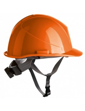 Casco de proteccion con barboquejo y rueda ER SERIES naranja