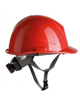 Casco de proteccion con barboquejo y rueda ER SERIES rojo