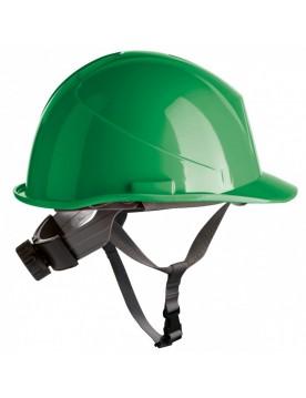 Casco de proteccion con barboquejo y rueda ER SERIES verde