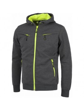 Chaqueta workshell gris/amarillo