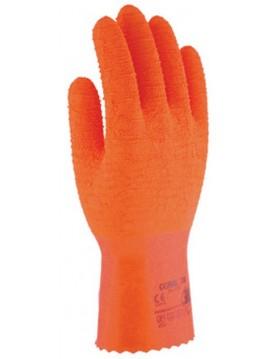 12 pares guante latex arrugado coral