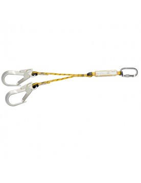 Doble cuerda de 172 cm con absorbedor y dos mosquetones