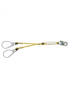 Doble cuerda de 200 cm con absorbedor y 2 mosquetones maxi