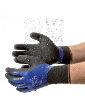 Guante Nitrilo Bicapa Azul Granulado Impermeable DryLux