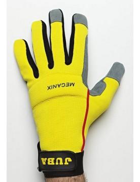 5 pares guante cuero mecanix amarillo