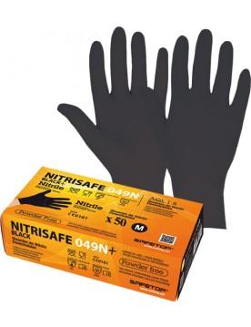 Guante desechable nitrilo 049N+. Caja 100 unidades