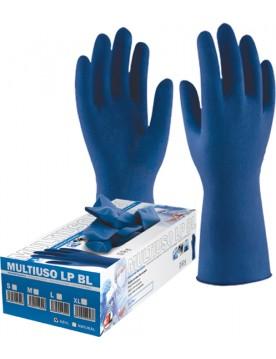 Guantes desechables latex extralargos lp blue. Caja 50 unidades