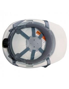 Casco de proteccion con barboquejo y rueda ER SERIES blanco
