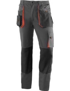 Pantalon 961 negro/naranja
