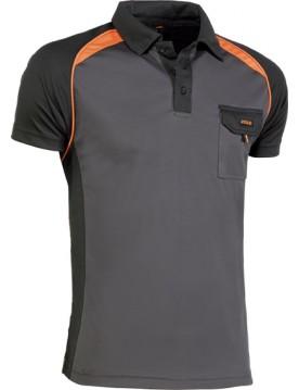 Polo 964 negro/naranja