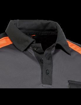 Polo Top Range 964 negro/naranja