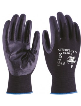12 pares guante de trabajo nitrilo superflex